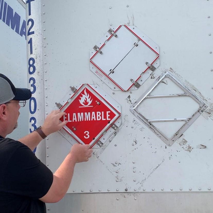 flammable hazmat placard