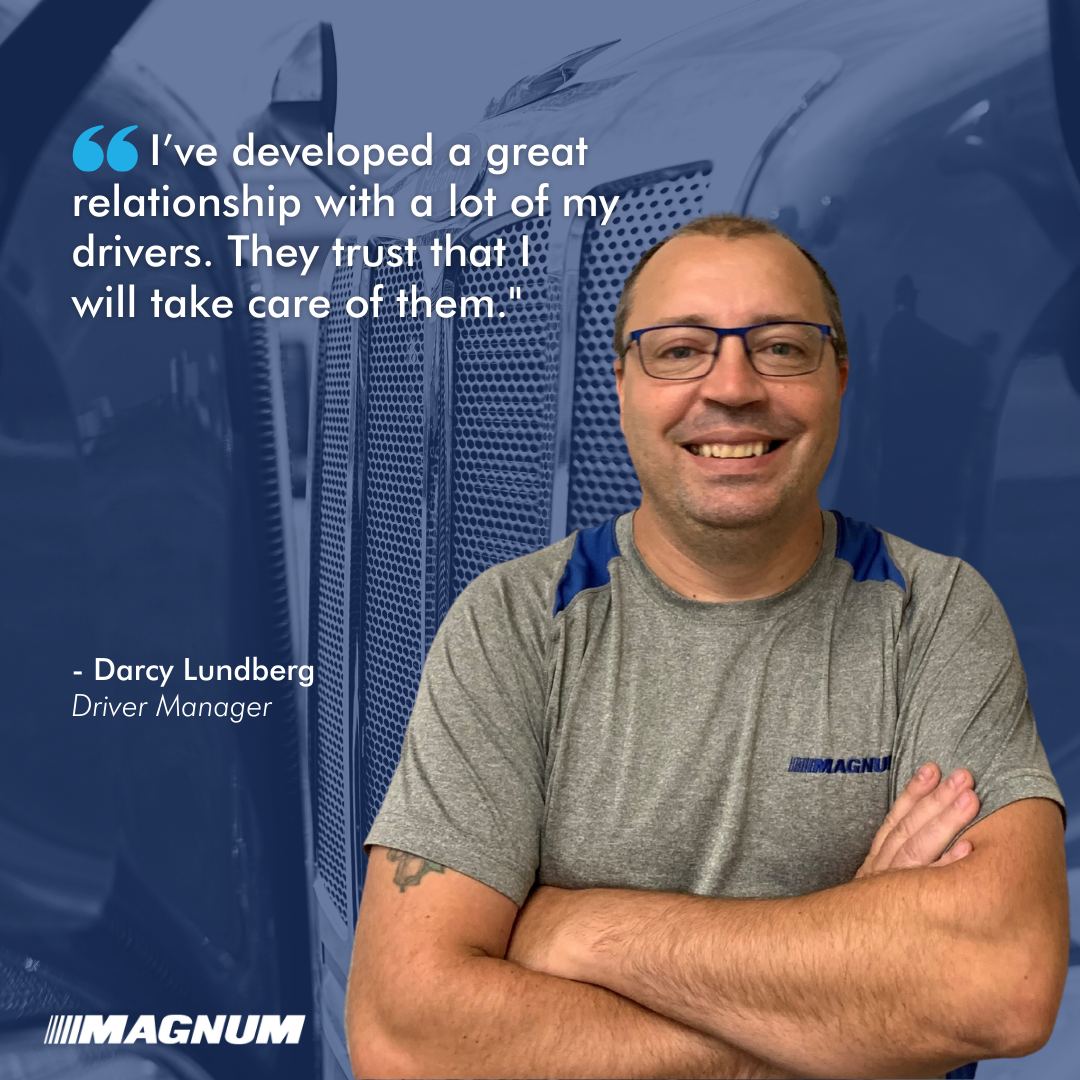 Driver Manager Darcy Lundberg