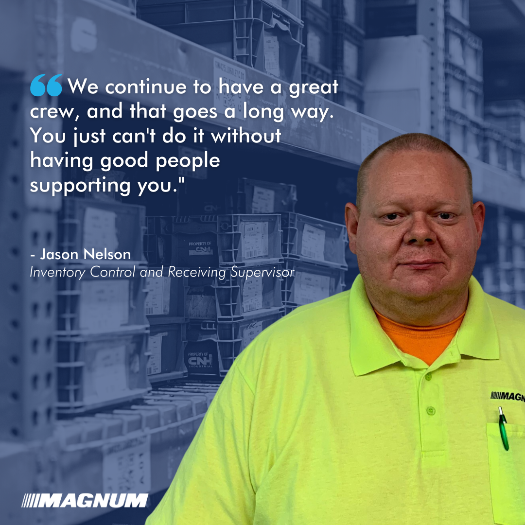 Inventory Control and Receiving Supervisor Jason Nelson